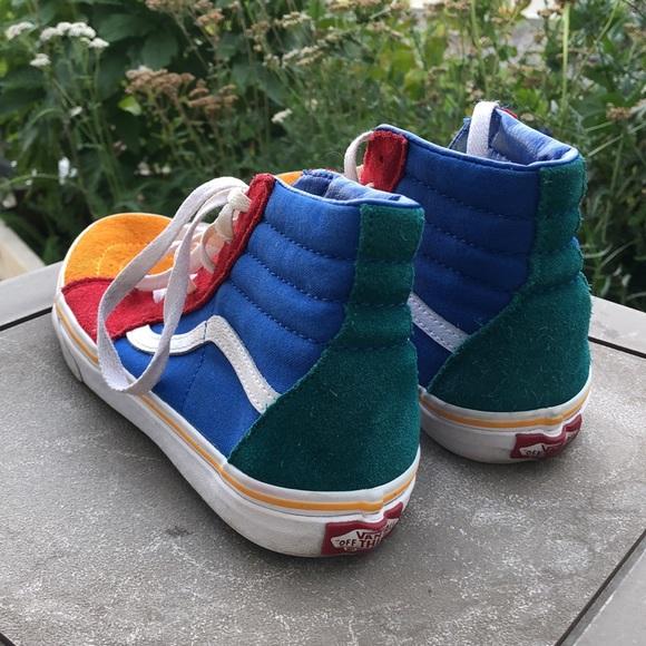Vans Sk8-Hi Colour Block Sneakers - Kids Size 5.5